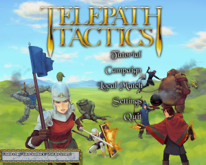 Telepath Tactics - Title Screen Msg